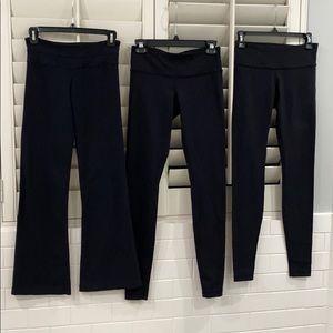 Black Lululemon legging bundle of 3